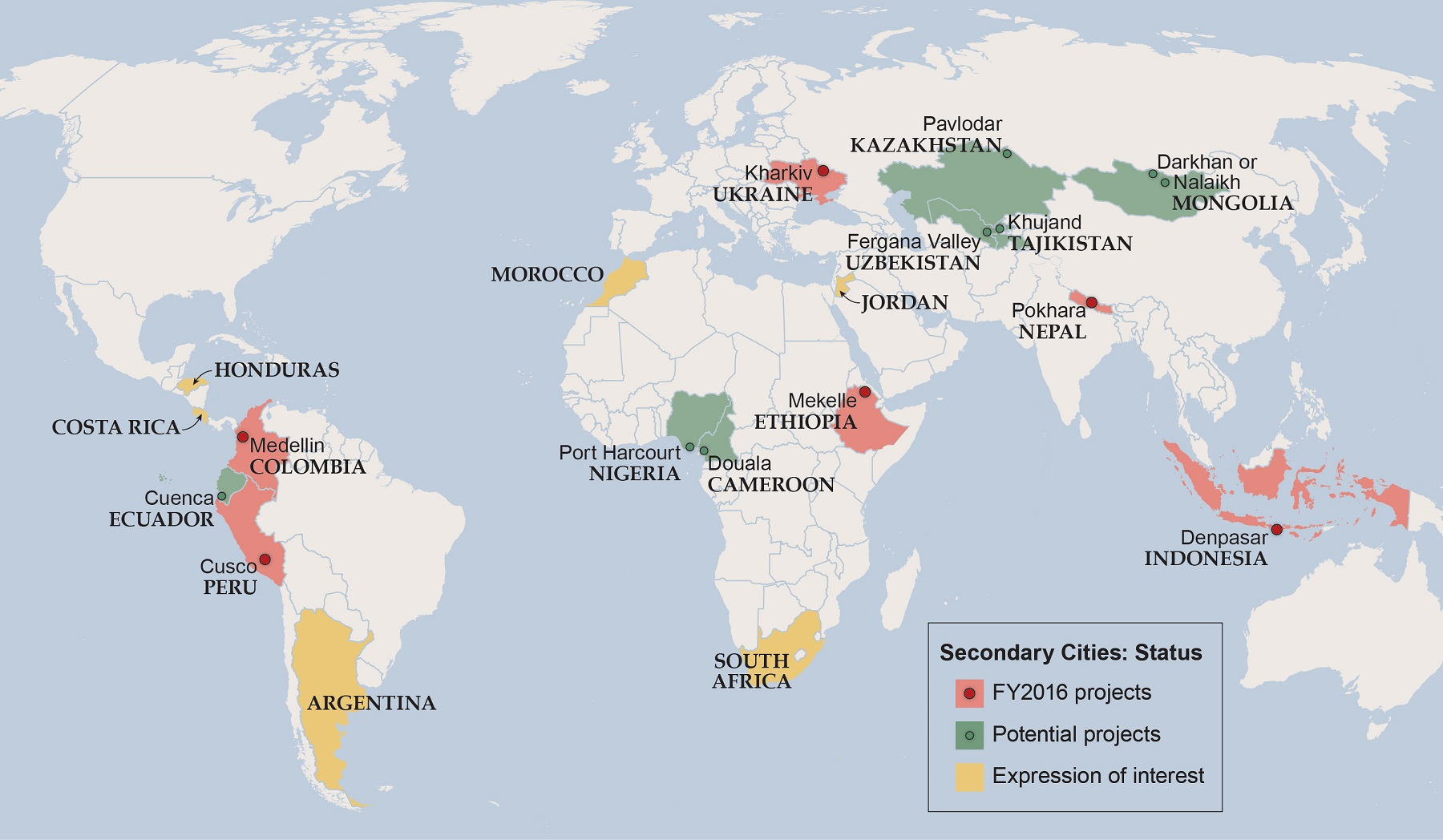 Secondary Cities - Peru major cities map